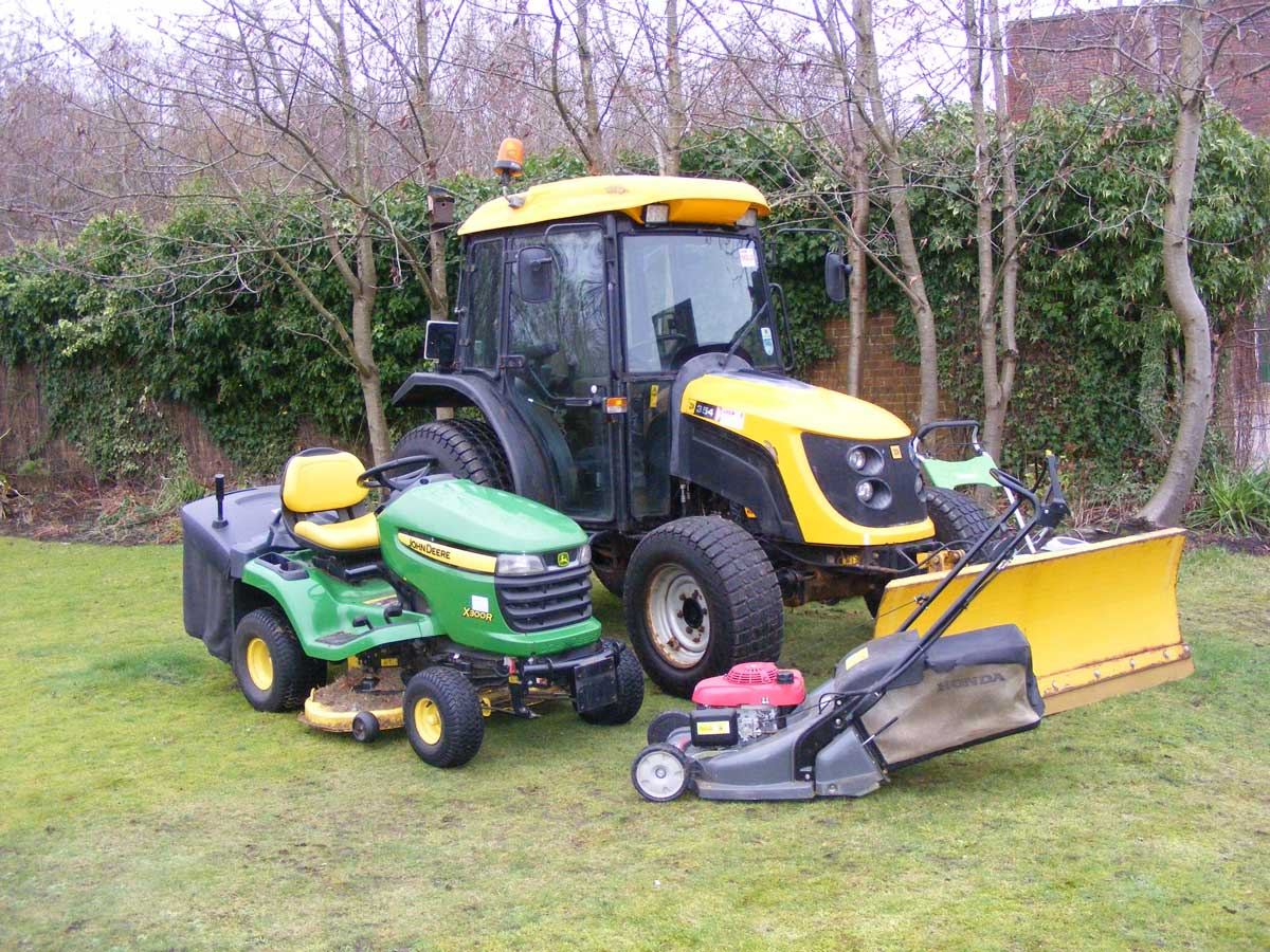 All year round grounds maintenance from small gardens through to large fields and estates